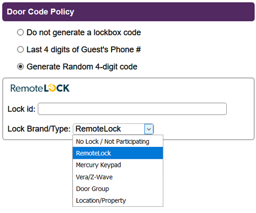 Door Code Policy Setup