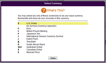 Multiple Currencies Supported