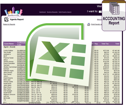 Vacation Rental Accounting Export Report