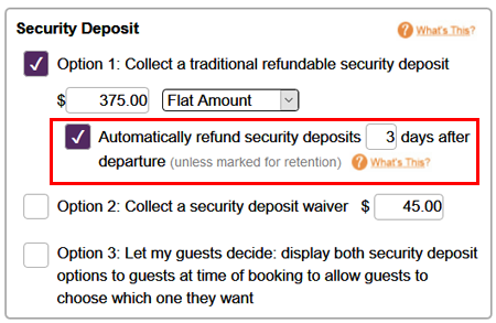 Vacation Rental Automated Refunds