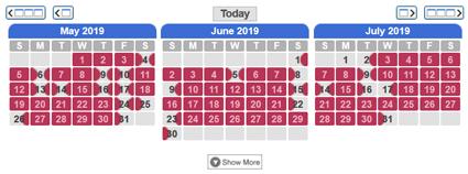 Read Only Availability Calendar
