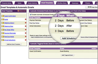 Vacation Rental Software Automatic Scheduled Emails